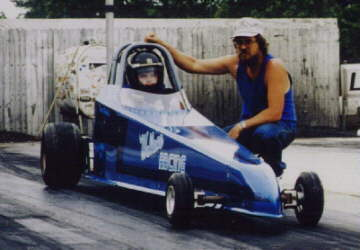 Jr Dragster driven by my son